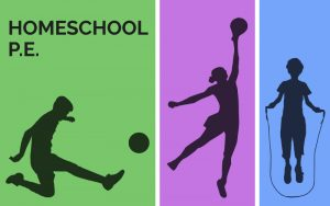 Graphic illustration of kids in silhouette playing soccer, basketball and jumping rope