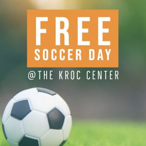 Free soccer day at the Kroc Center